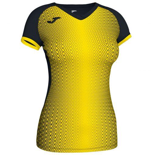 Maillot jaune noir Joma, femme, foot, futsal, hand, volley