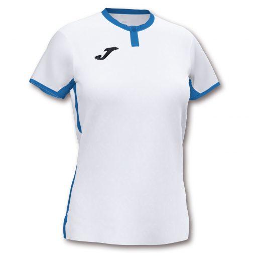Maillot blanc femme Joma, toletum II, bleu, foot, futsal, volley