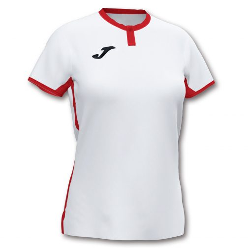 Maillot blanc rouge femme Joma, Toletum, foot, futsal, volley