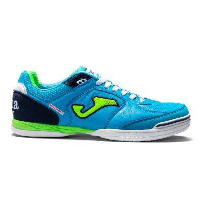 top flex, Joma, bleu azur, chaussures, futsal