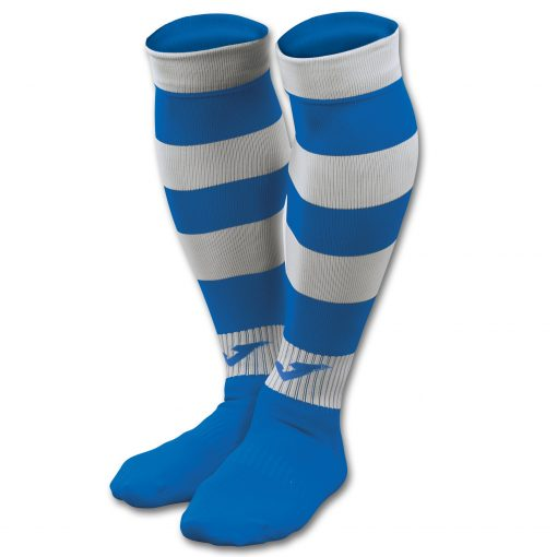 Chaussettes rayées bleues Joma, rugby, foot, futsal
