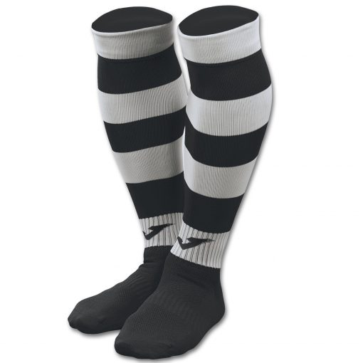 Chaussettes noir-blanc, Joma, rayé, Zebra II, futsal, rugby, foot