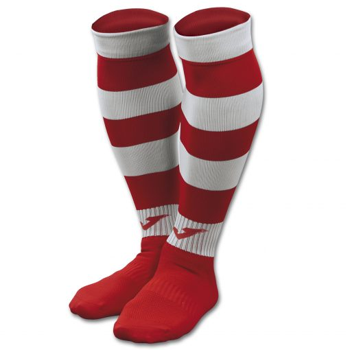 Chaussettes rouge-blanche Joma, rugby, futsal, foot