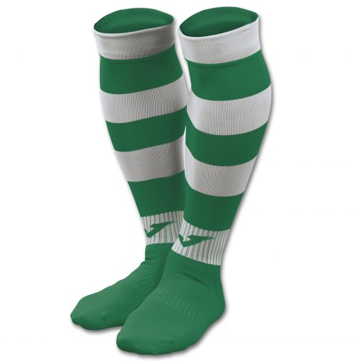 Chaussettes rayées vert-blanc Joma, Rugby, futsal, foot, zebra 2
