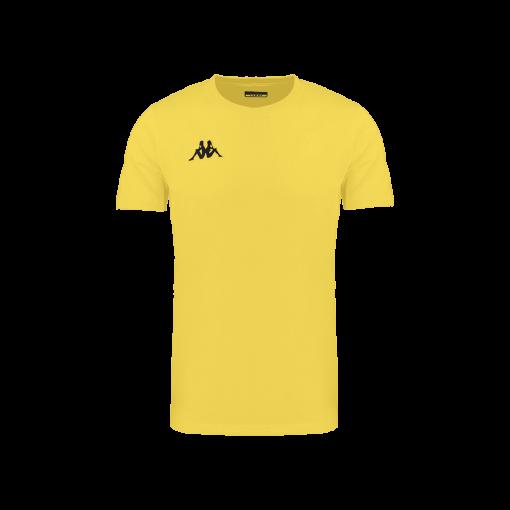 t-shirt jaune kappa, meleto