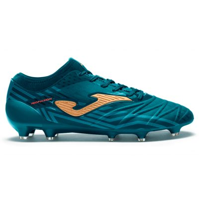 propulsion, football, foot, crampons, moulés, terrain dur, Joma, bleu pétrole