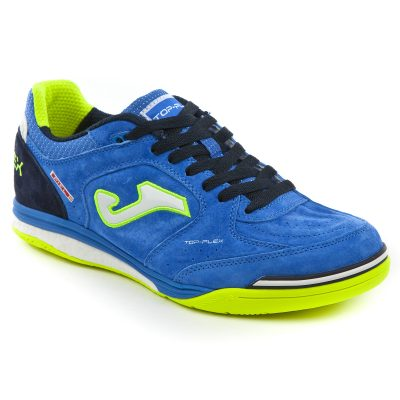 top flex, nobuck, Joma, bleu royal, futsal, chaussures